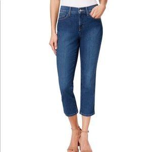 NYDJ Alina Crop Capri Jeans in a Light Wash